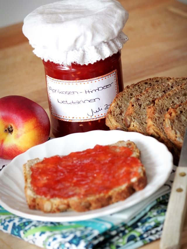 Rezept Marmelade Aprikose Himbeer Nekatrine selbstgemacht