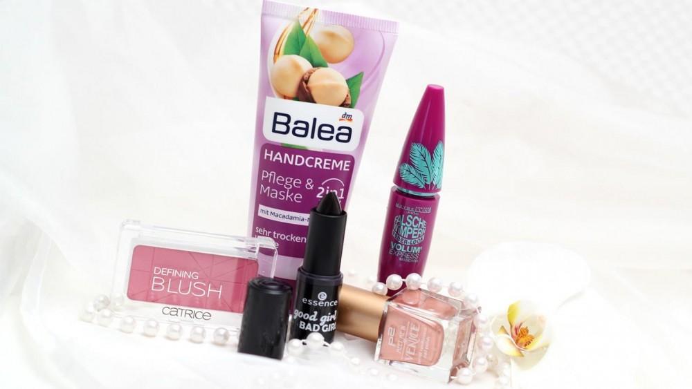 dm Haul Balea Handcreme Essence Good Girl Lippenstift Catrice Defining Blush Maybelline Falsche Wimpern Mascara