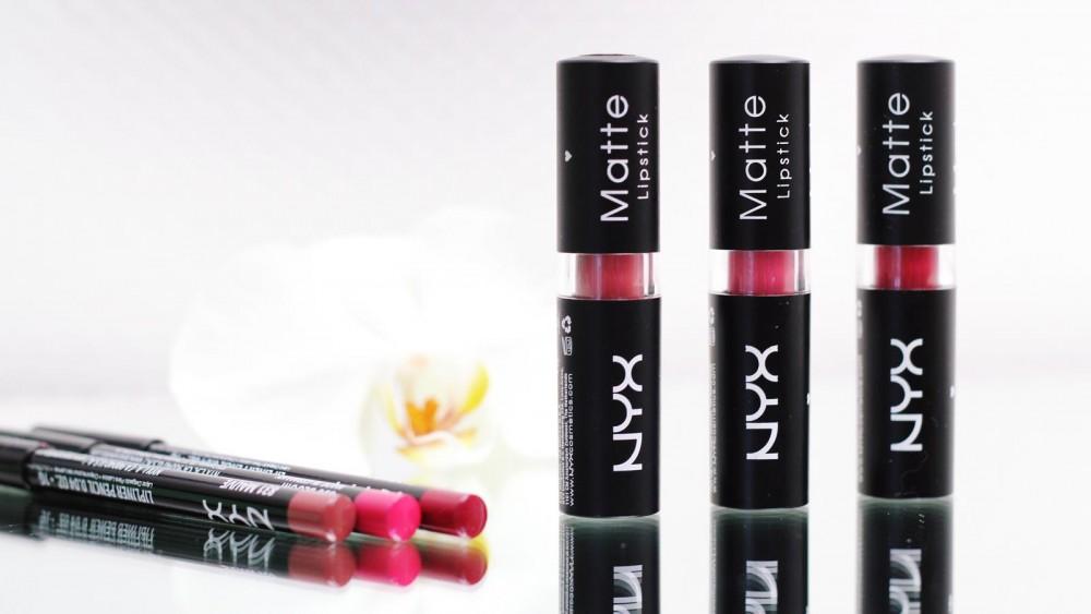NYX Matte Lipstick Lippenstift und Lipliner Beautybloggerin Karlsruhe