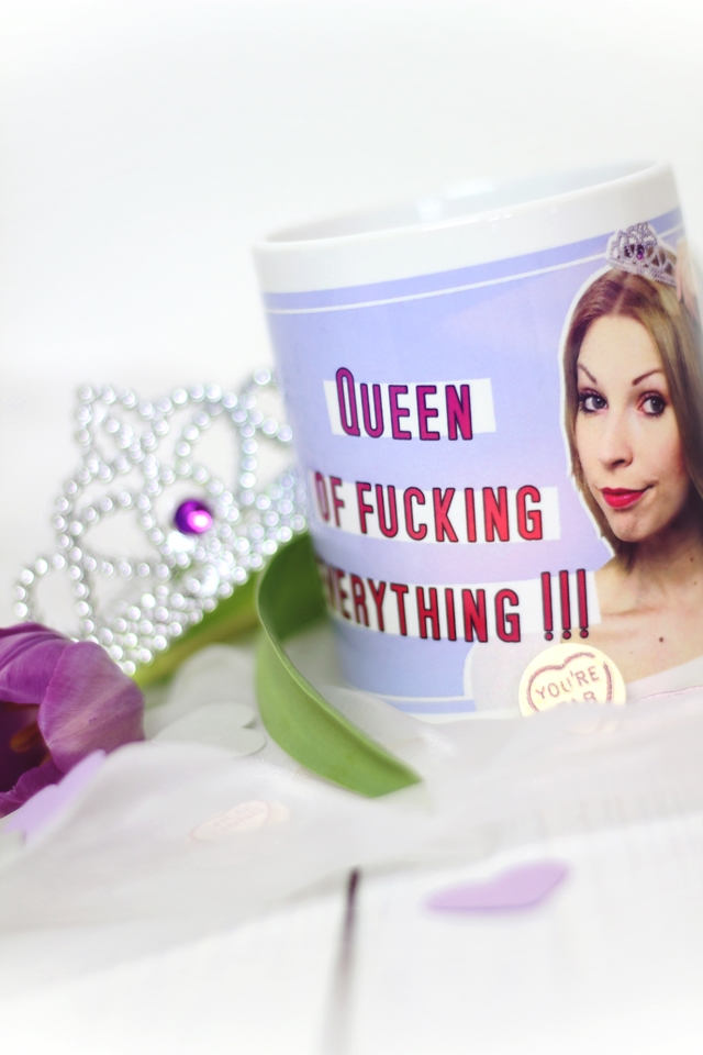 Fototasse Queen of fucking everything Kaffeetasse personalisiert