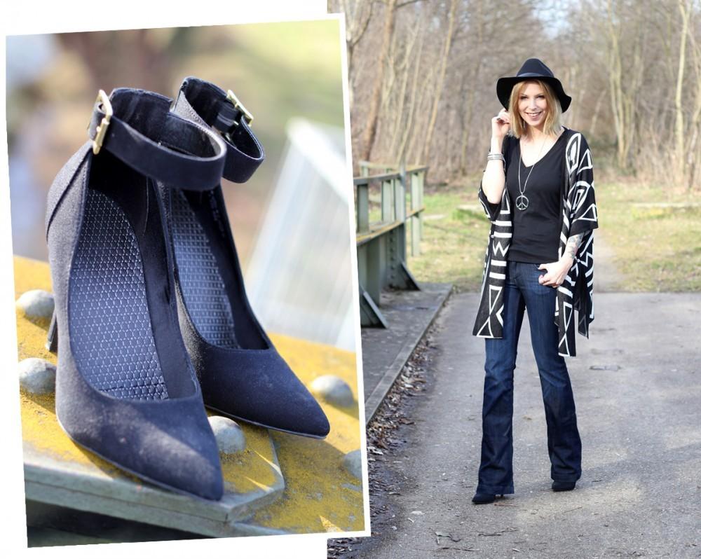 Outfit Fashionblogger Karlsruhe Bloggers Closet Challenge Ethnocardigan Schlagjeans Hut (11)
