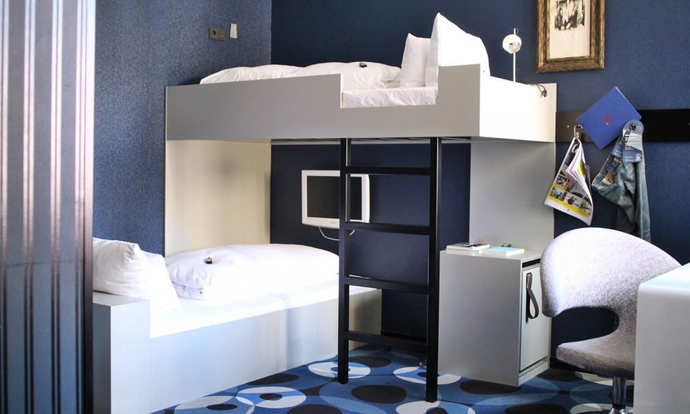 25 Hours Frankfurt Stockbett Hotelzimmer 2
