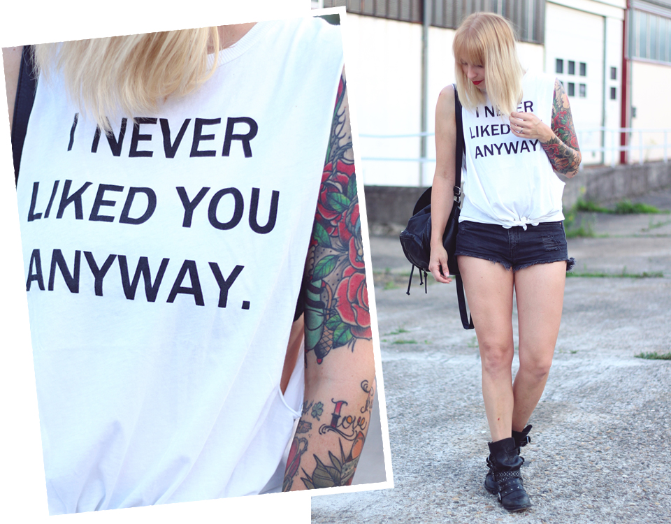 Outfit Never liked you High Waist Shirt 14