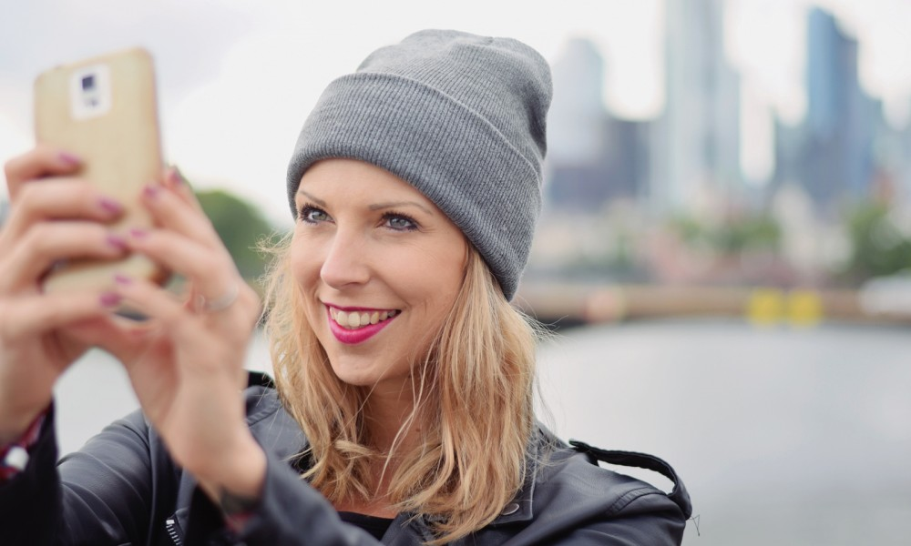 Fashionblogger Frankfurt Selfie Skyline