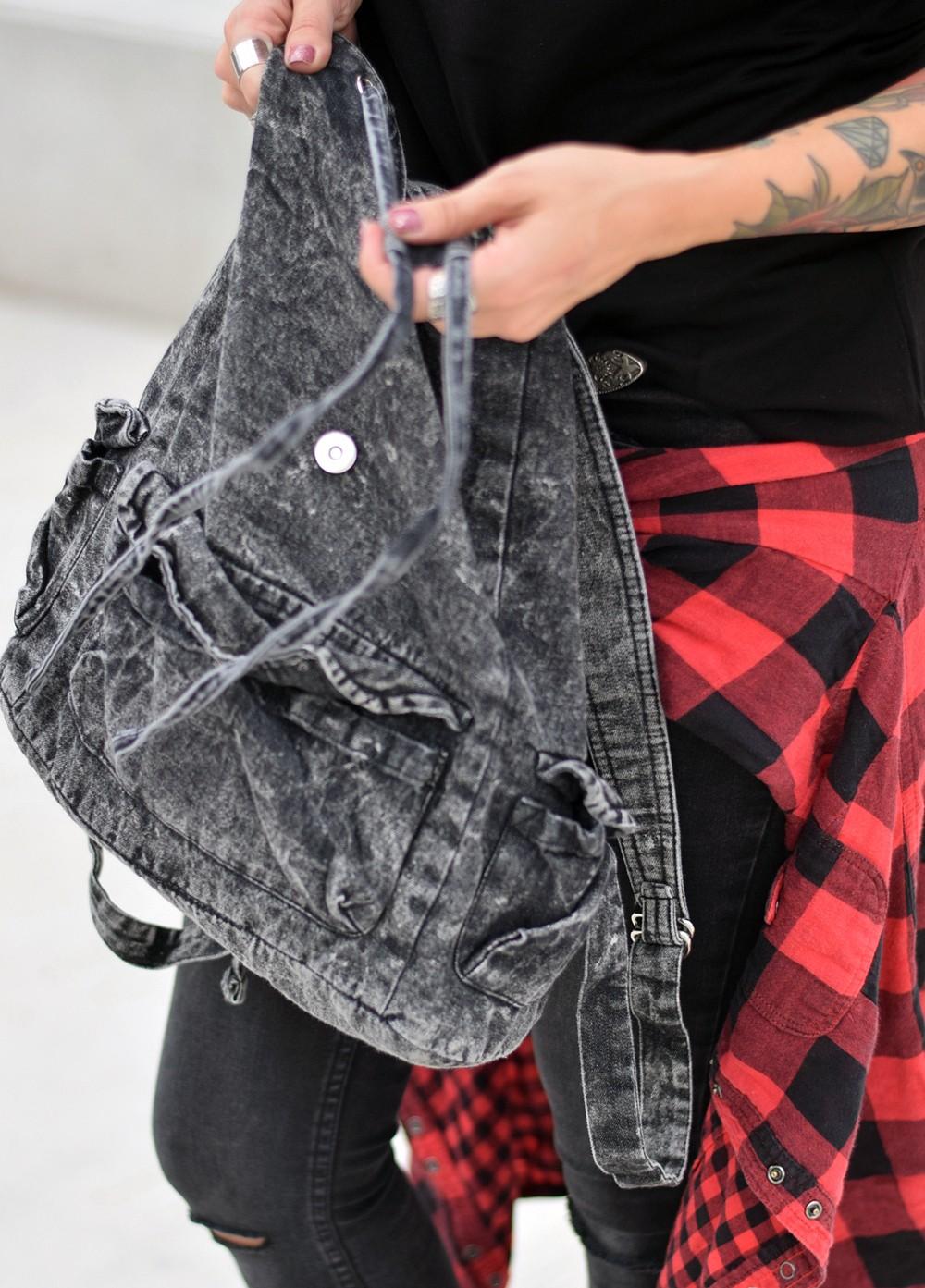 Outfir Karohemd Jeans Hut Rucksack 7