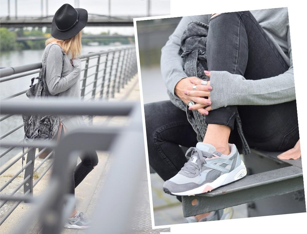 Puma Vashtie Outfit grau Jeans Sweater 9