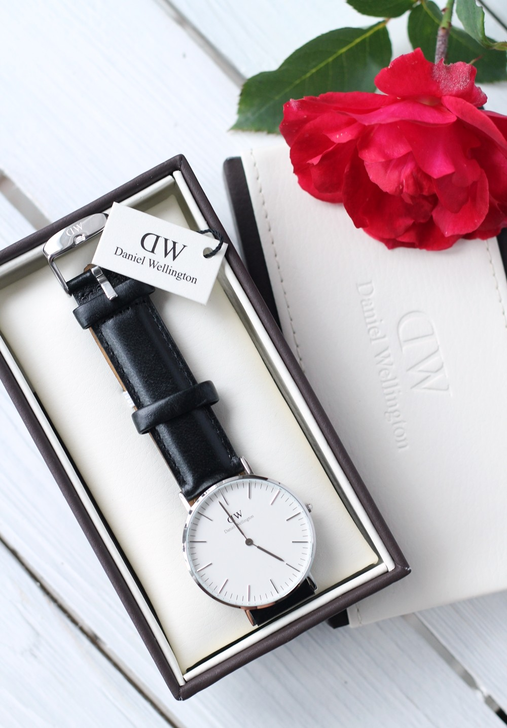 Fashionblogger Karlsruhe Daniel Wellington Uhr klassisch schwarz silber 1