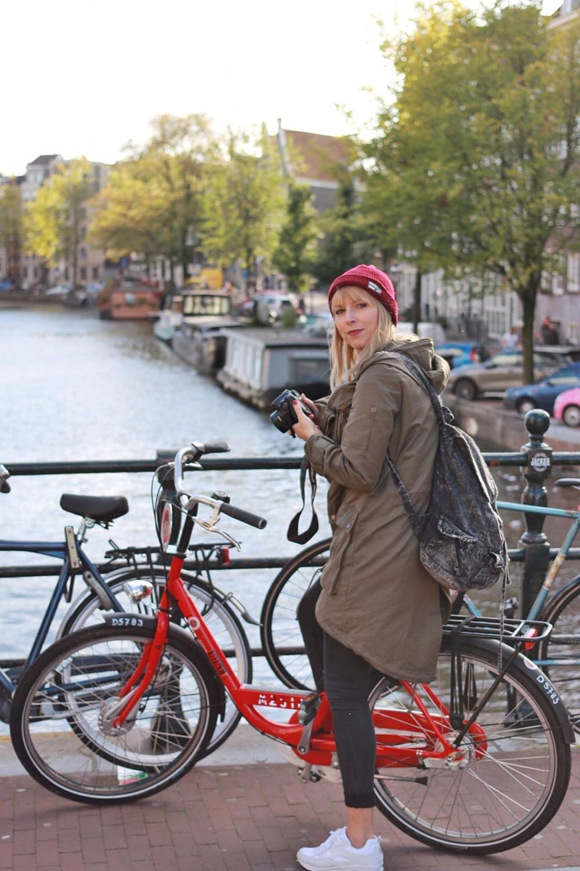 Ich in Amsterdam mit dem MAC Bike
