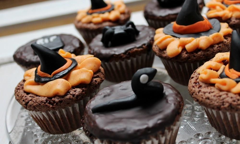 Schokoladenmuffins Fondant Halloween