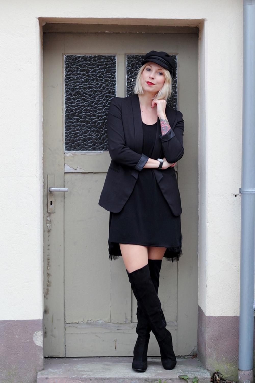 fashionblogger karlsruhe outfit ootd kleid blazer. Black Bedroom Furniture Sets. Home Design Ideas