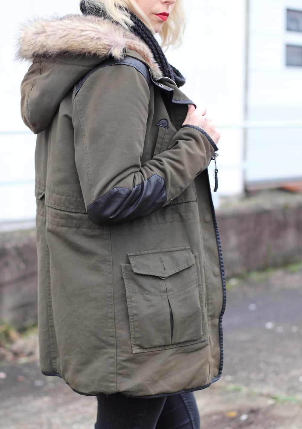 Fashionbloggeri Karlsruhe Outfit Parka Zara Kunstfell 4