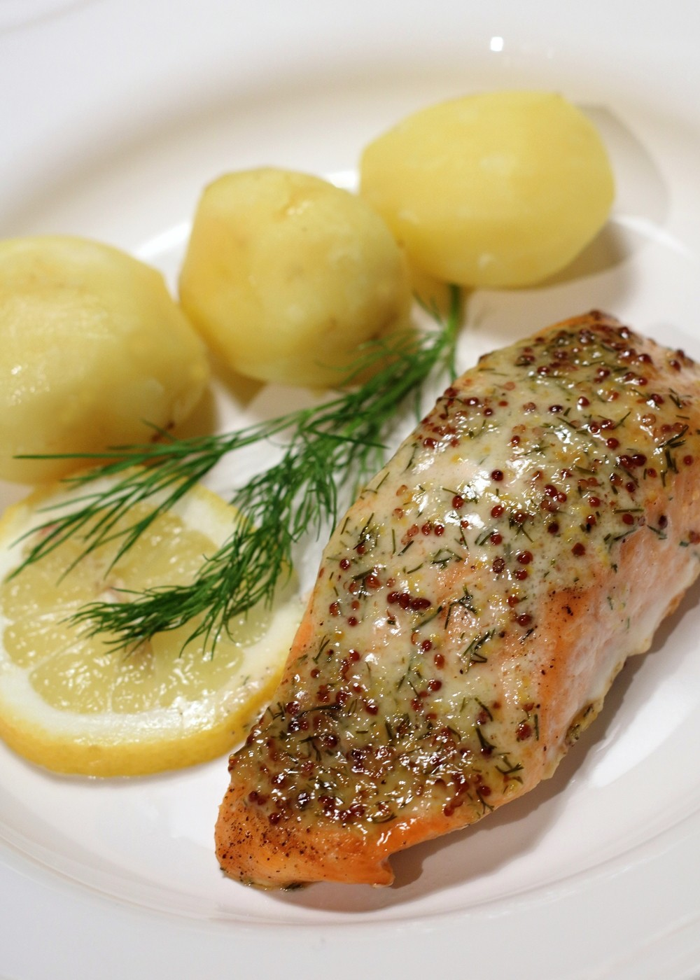 Lachs in Senf Dill Sauce000009