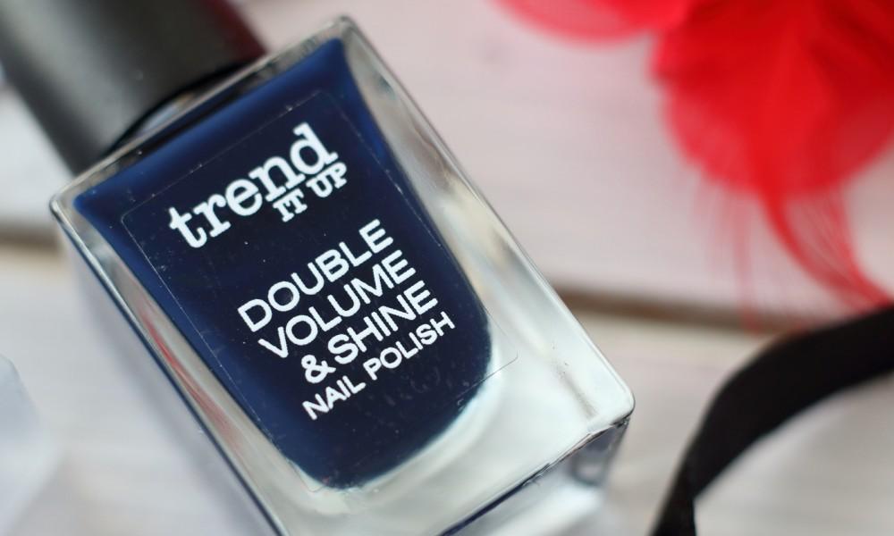 Trend it up Double Volume and Shine Nailpolish Nagellack dunkelblau
