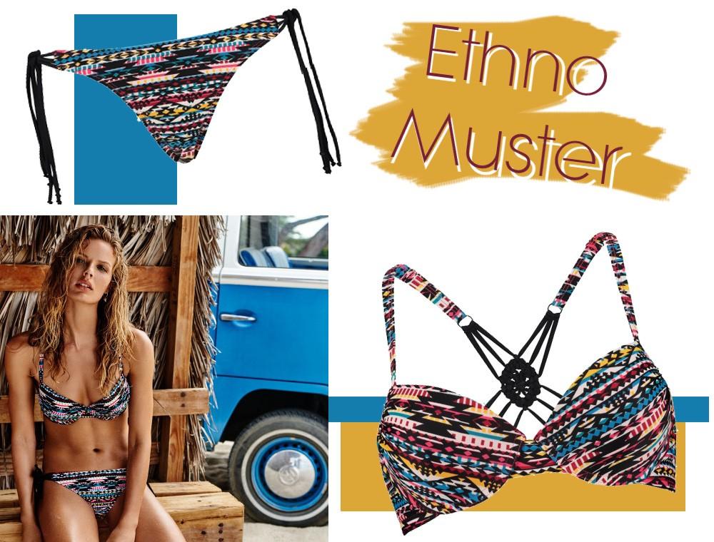 Hunkemöller Bikini Ethnomuster Sommer 2016