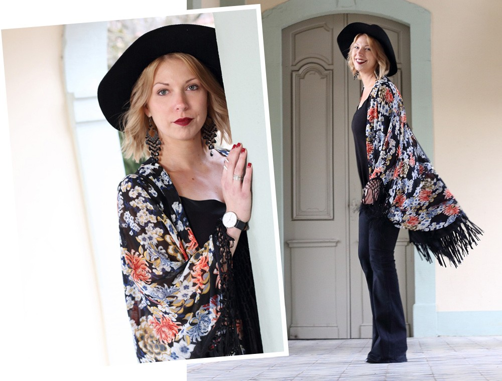 Outfit Kimono Flared Jeans Hut Stiefeletten Fransentasche Fashionbloggerin Karlsruhe (18)