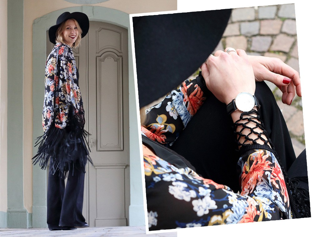 Outfit Kimono Flared Jeans Hut Stiefeletten Fransentasche Fashionbloggerin Karlsruhe (19)