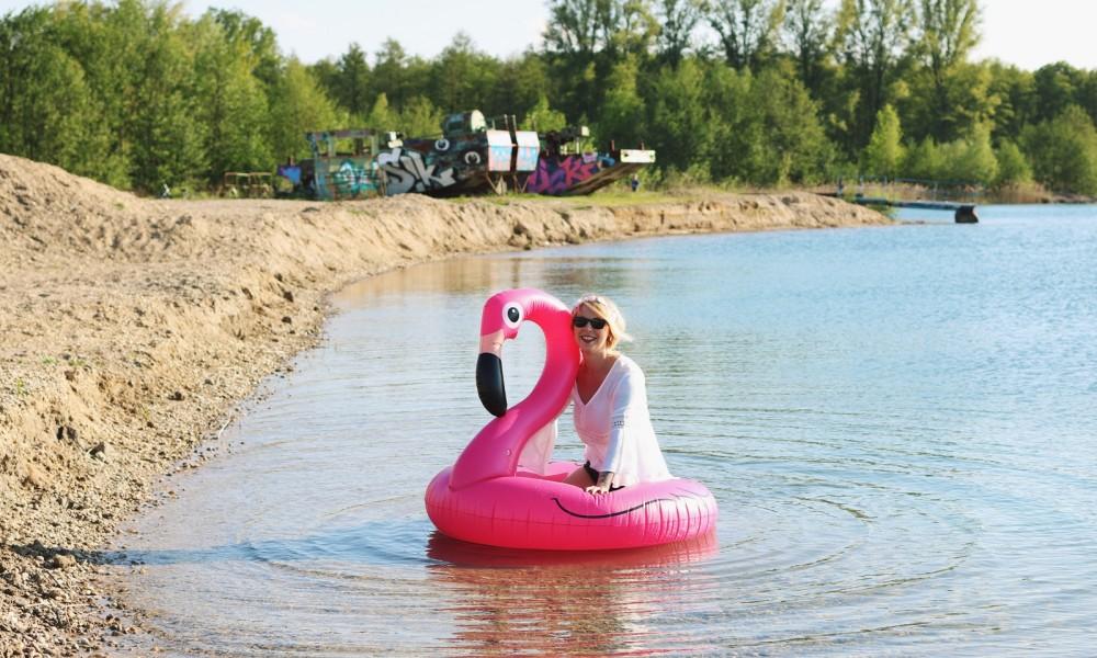 Flamingoschwimmring Donutstrandtuch Accessoires See Strand Radbag (12)