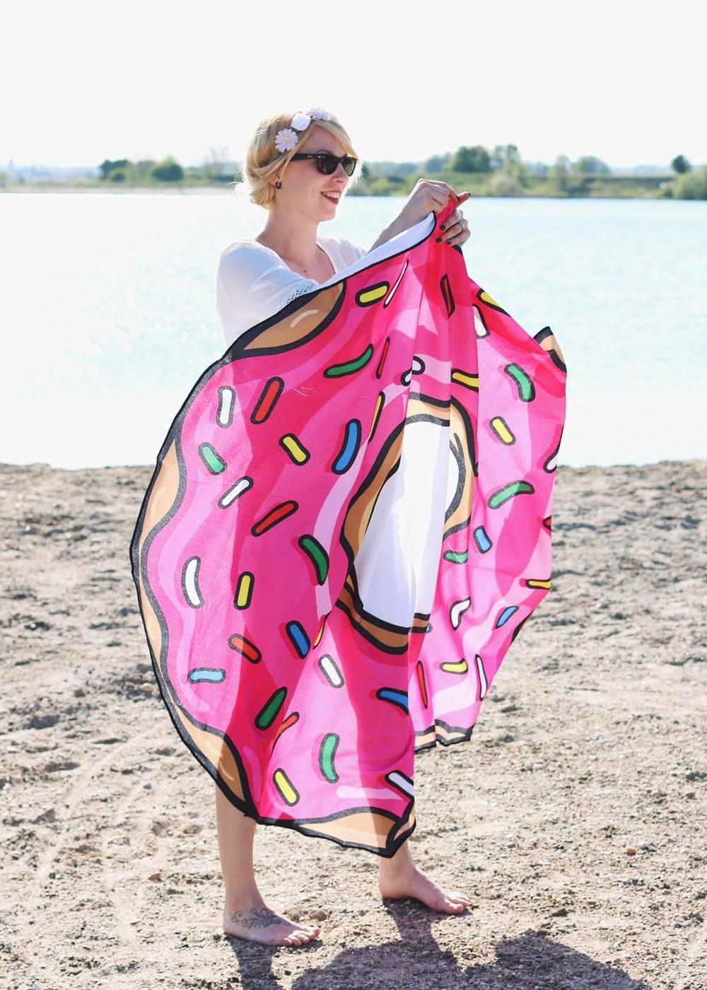 Flamingoschwimmring Donutstrandtuch Accessoires See Strand Radbag (4)