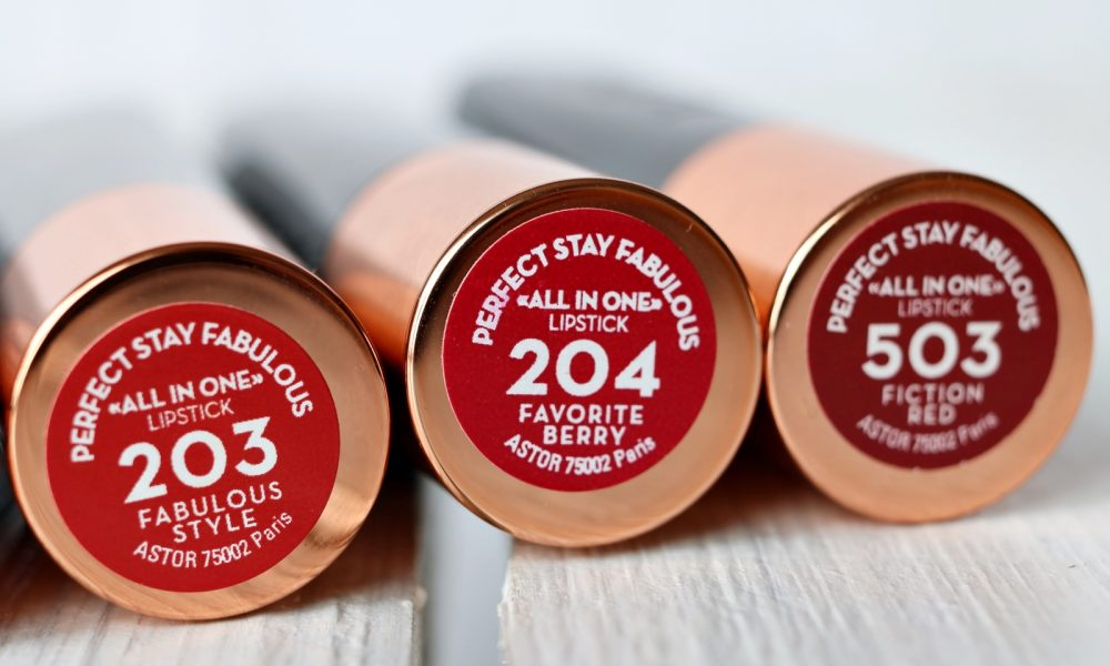 Astor Perfect Stay Fabulous Lippenstifte inklusive Swatches (10)