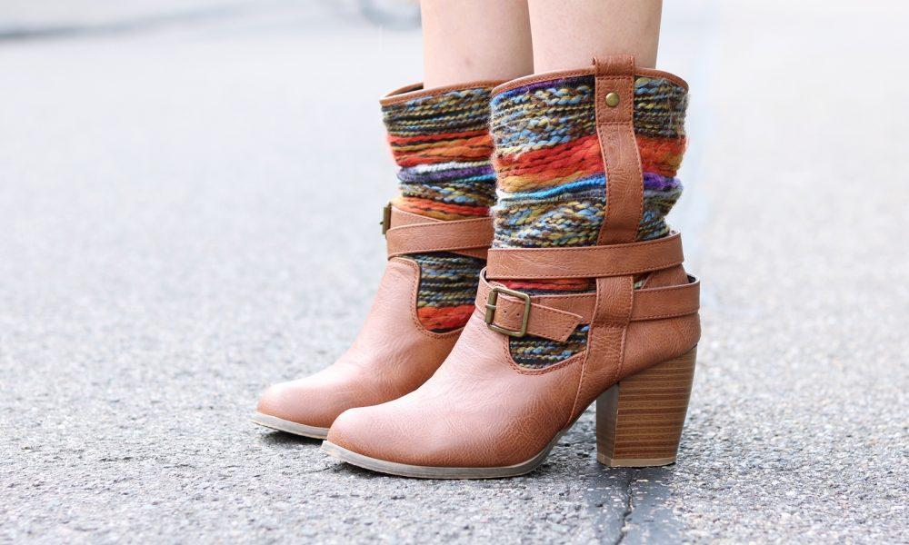Fashionbloggerin Outfit Blusenkleid Zara Ethnoboots Fransenrucksack Justfab (6)