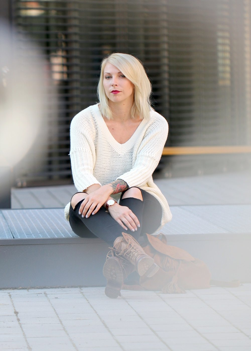 fashionbloggerin-karlsruhe-outfit-braune-schnuerboots-zign-strickpullover-noisy-may-fransenrucksack-just-fab-9