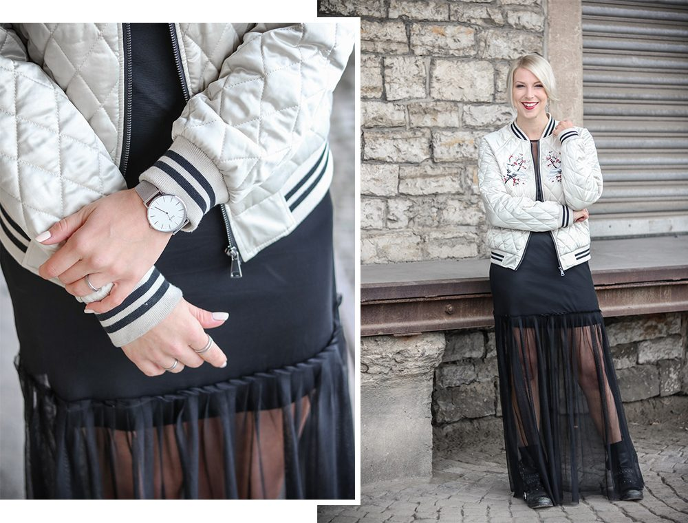 outfit-fashionbloggerin-bomberjacke-vero-moda-bikerboots-schwarzes-maxikleid-transparent-stradivarius-8