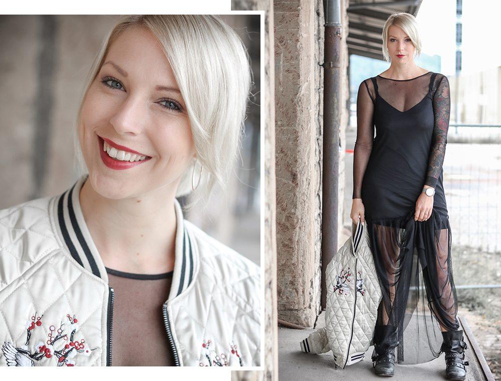 outfit-fashionbloggerin-bomberjacke-vero-moda-bikerboots-schwarzes-maxikleid-transparent-stradivarius-9