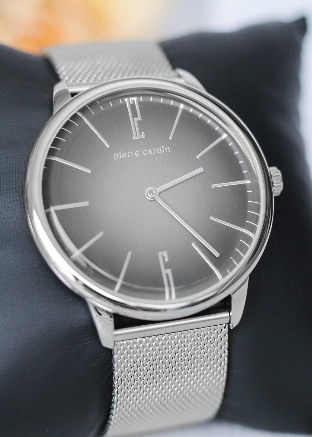 pierre-cardin-armbanduhr-unisex-mesh-silber-schwarzes-zifferblatt-4-von-11