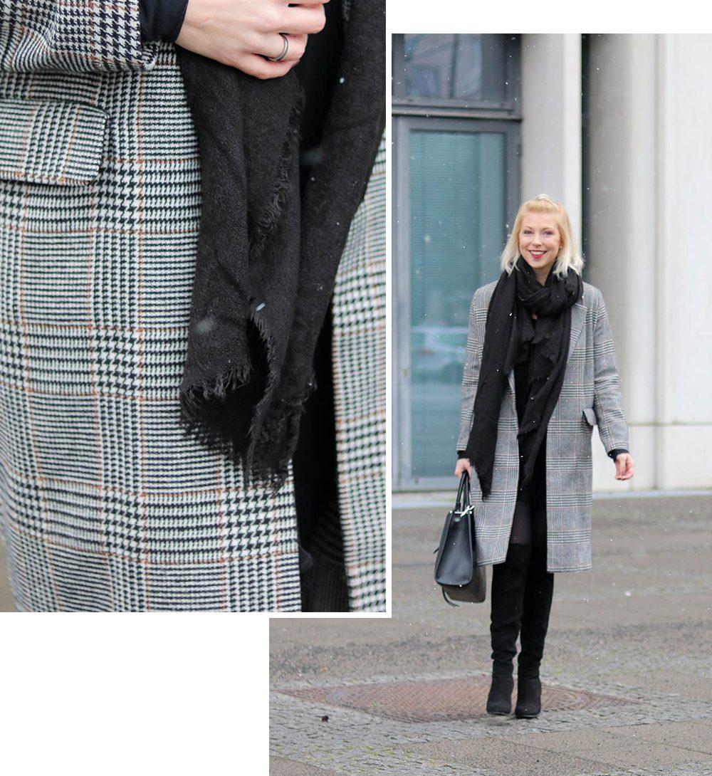 outfit karierter mantel zum schn ppchenpreis lavie deboite. Black Bedroom Furniture Sets. Home Design Ideas