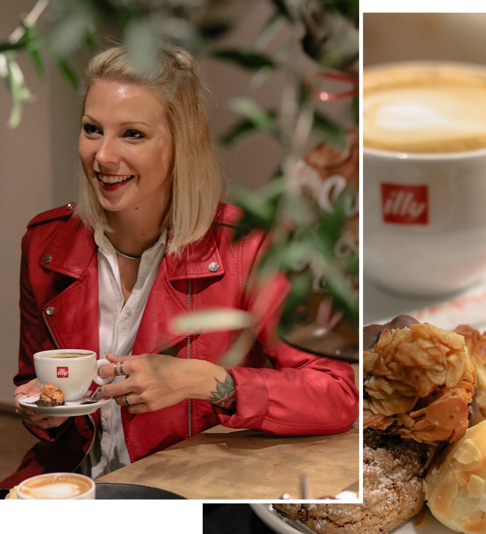 Vapiano Mannheim Illy Kaffee und Pasticcini