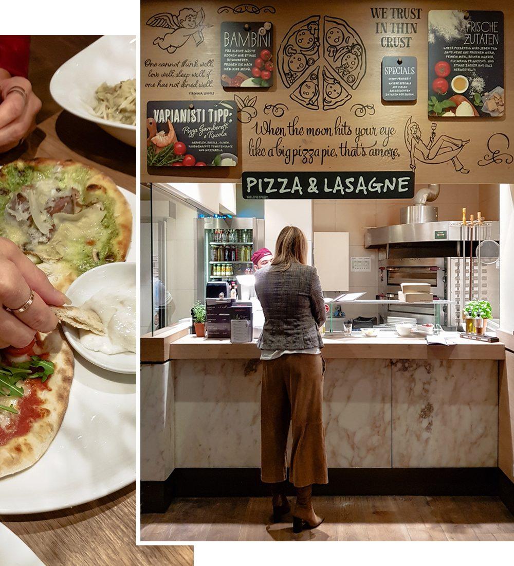 Vapiano Mannheim italienisches Essen Pizza und Lasagne