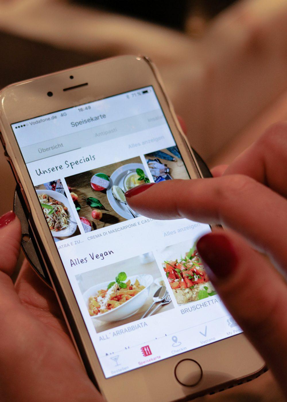 Vapiano Mannheim bestellen und bezahlen per App