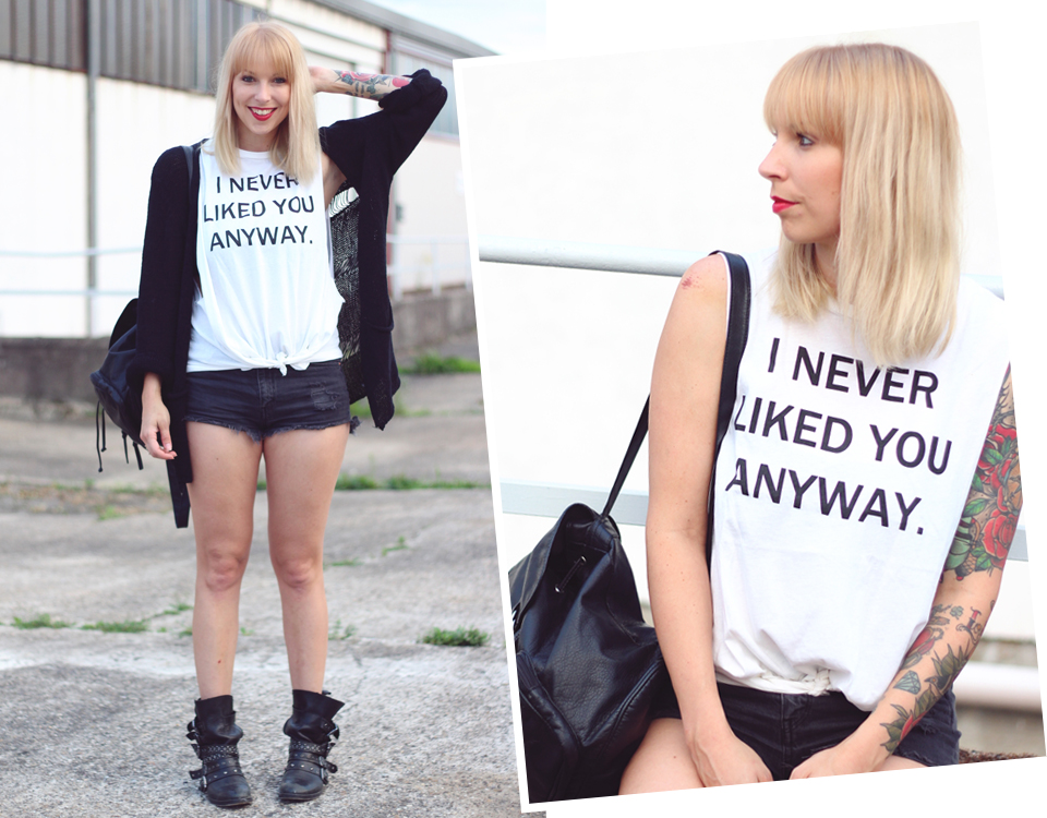 Outfit Never liked you High Waist Shirt 17