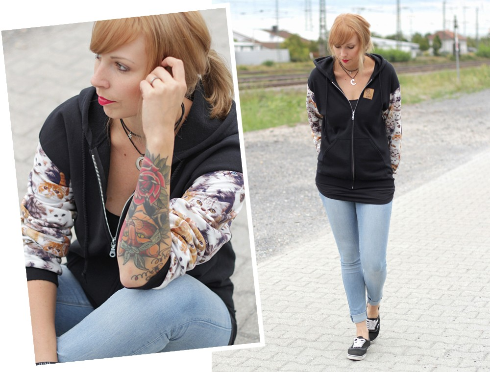Katzenhoodie Weebit Vans Collage 1