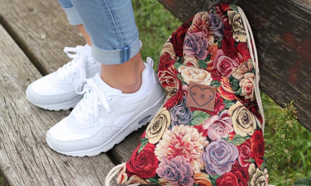 Weebit Gymbag Blumen Sneaker Deichmann 6