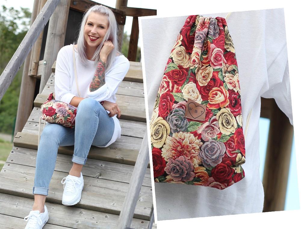 Weebit Gymbag Blumen Sneaker Deichmann Collage 2