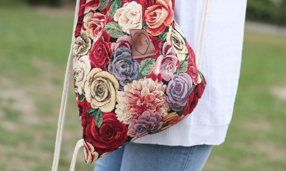 Weebit Gymbag Rucksack Blumen 2
