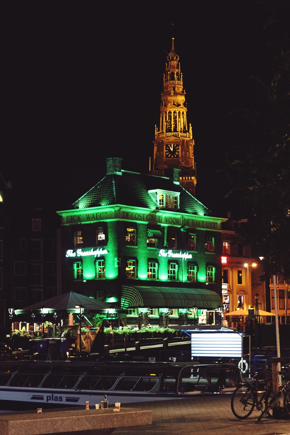 Grasshopper Amsterdam at night 2