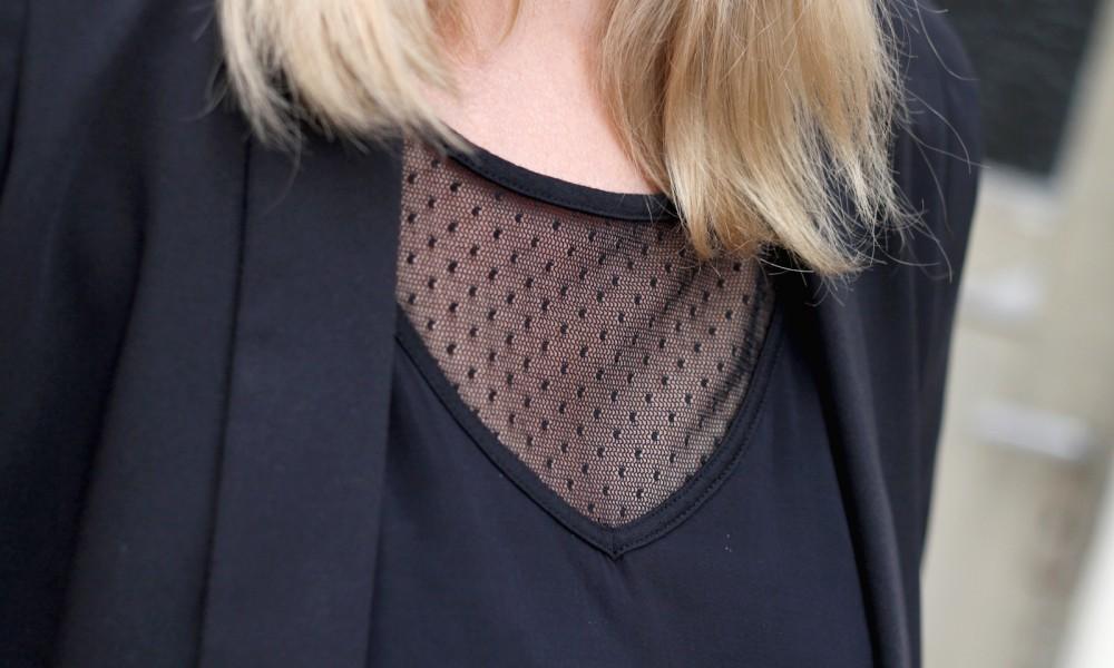 Outfit Schlagjeans Blazer Shirt Hut Fashionblogger Karlsruhe (21)