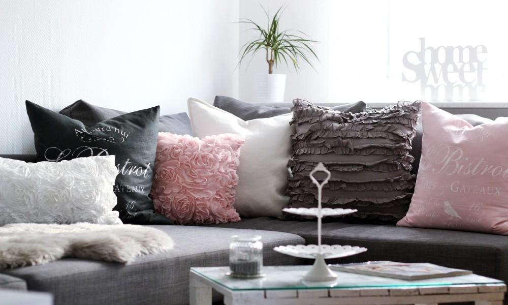 Wohnzimmer weiss rosa grau