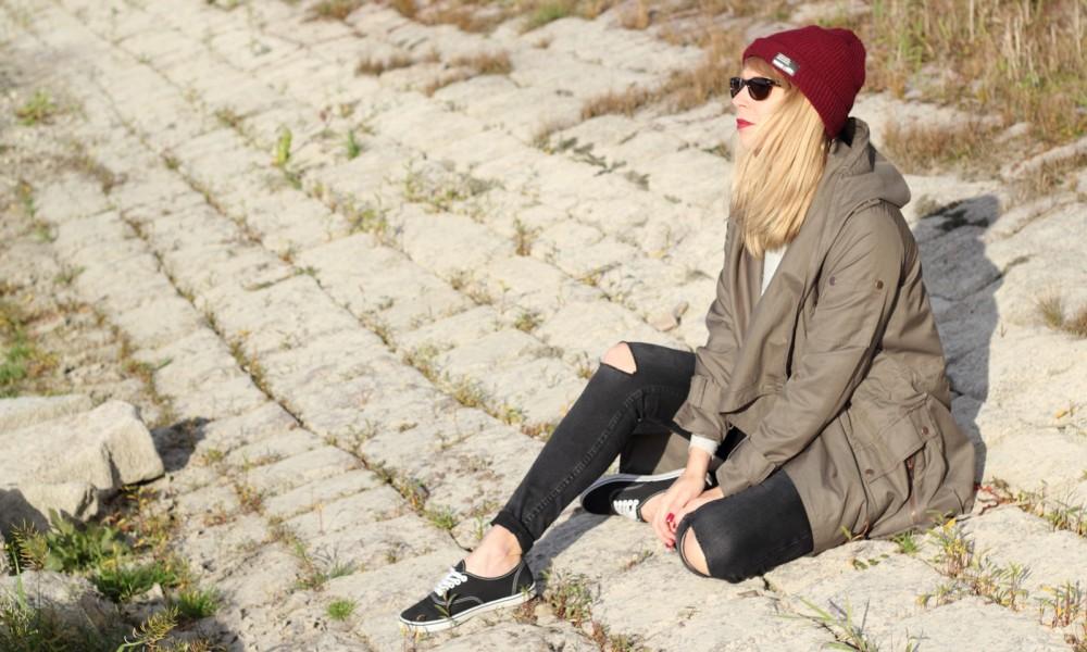 Fashionbloggerin Karlsruhe Mannheim Outfit Parka Asos Jeans New Look Vans Rhein 1