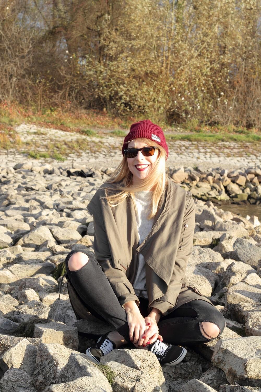 Fashionbloggerin Karlsruhe Mannheim Outfit Parka Asos Jeans New Look Vans Rhein 17