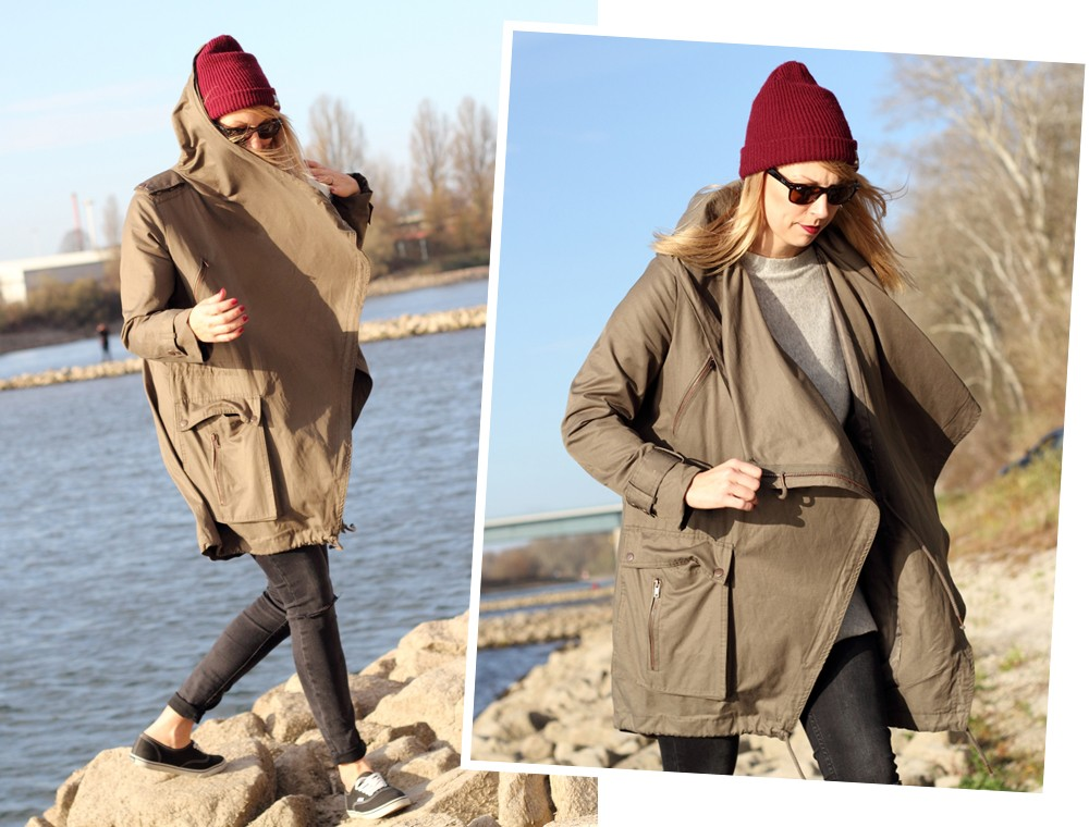 Fashionbloggerin Karlsruhe Mannheim Outfit Parka Asos Jeans New Look Vans Rhein 19