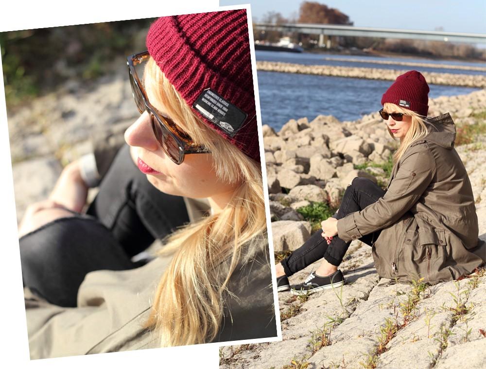 Fashionbloggerin Karlsruhe Mannheim Outfit Parka Asos Jeans New Look Vans Rhein 3