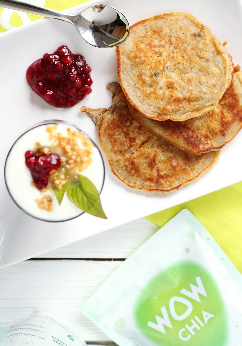 Wow gemahlene und ganze Chiasamen Chiapudding Chia Bananen Pancakes 4