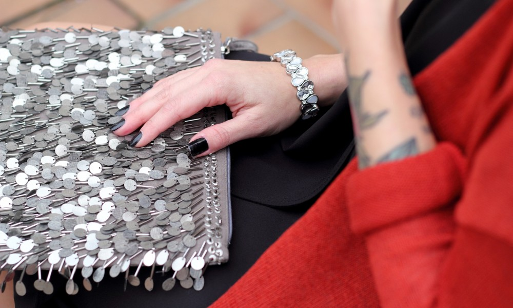 Fashionbloggerin Karlsruhe New Look Weihnachtsoutfit Clutch