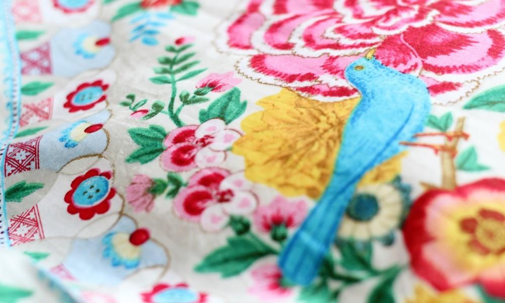 PiP Bettwäsche Detail Vogel Blumen