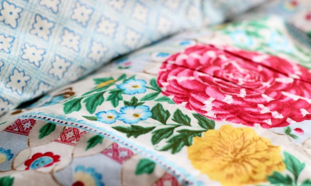 PiP Bettwäsche Detail Vogel Blumen 2