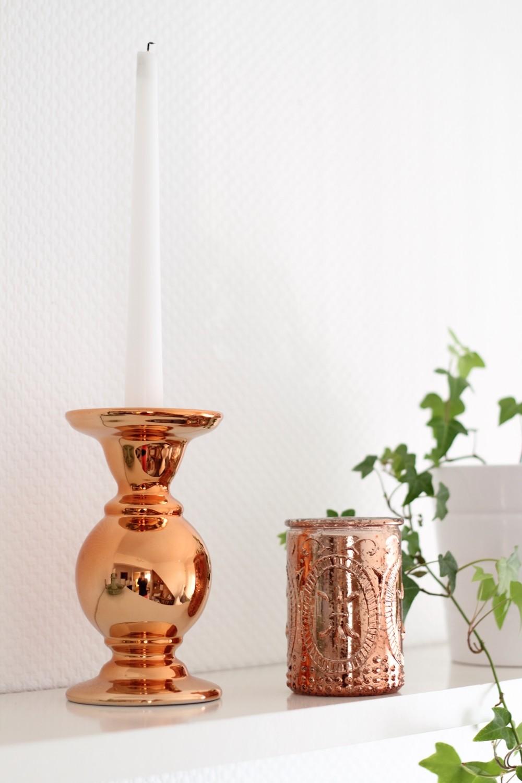 Wohnzimmer Deko Kupfer Kerzenständer
