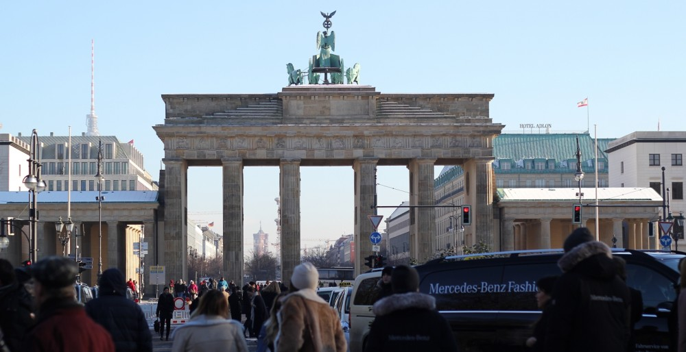 Brandenburger Tor Mercedes Benz Fashion Week Berlin